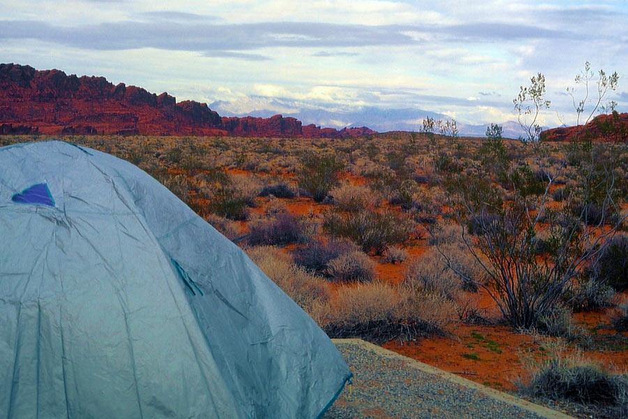 Erste Nacht im Zelt, Nevada