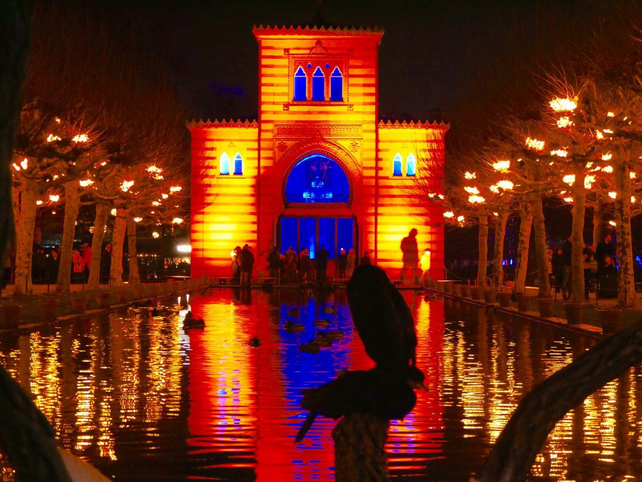 Lichter in Damaskus und Kristallallee