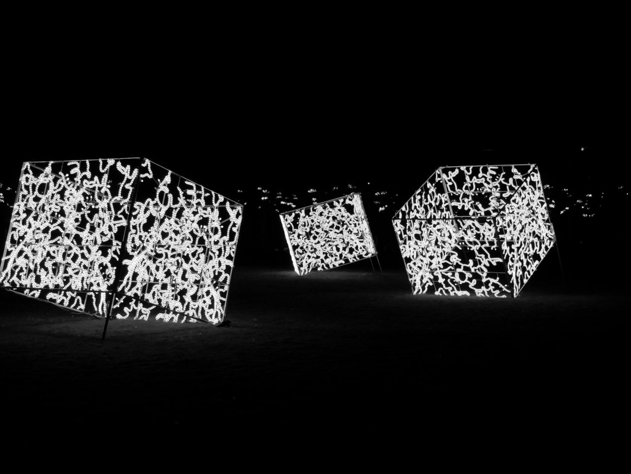 Leuchtende Würfel