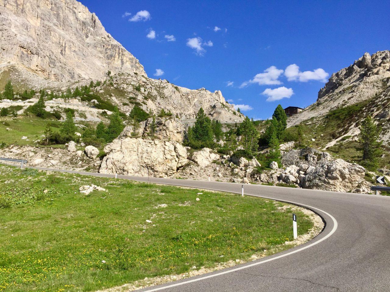 Auffahrt Passo Valparola, Dolomites, Italy