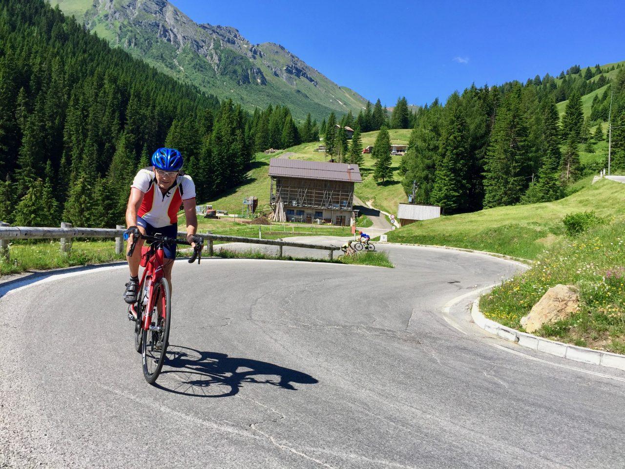 Hans-Jörg, Auffahrt Passo Pordoi, Dolomites, Italy