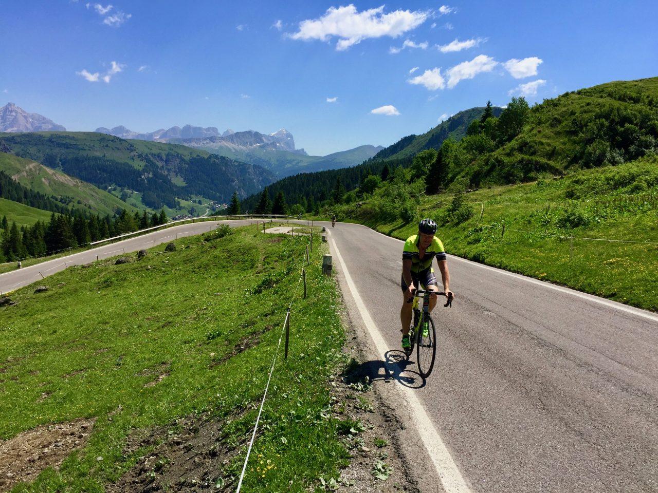 Andi, Auffahrt Passo Pordoi, Dolomites, Italy