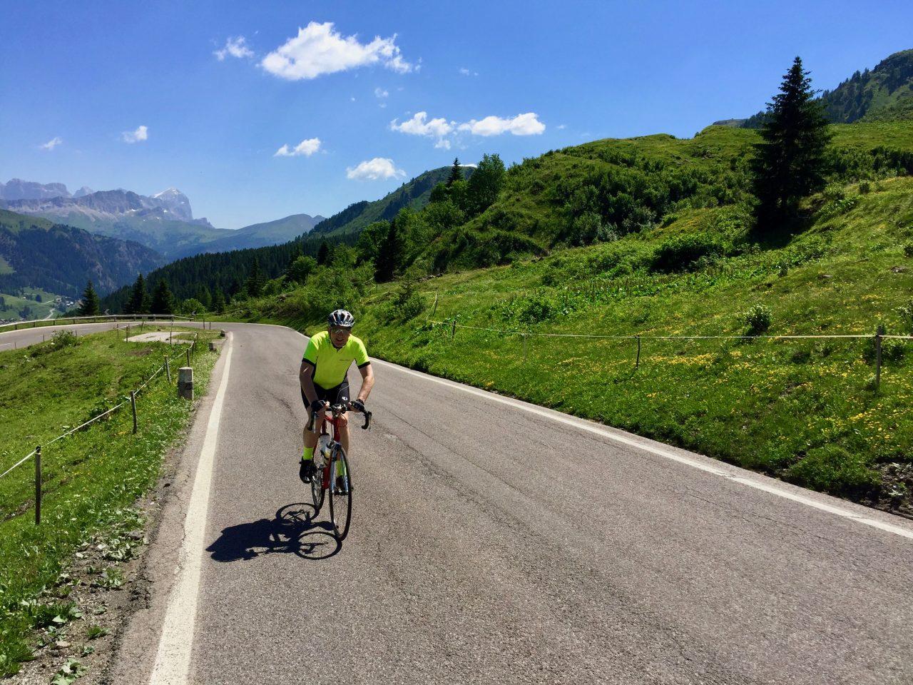 Jürgen, Auffahrt Passo Pordoi, Dolomites, Italy