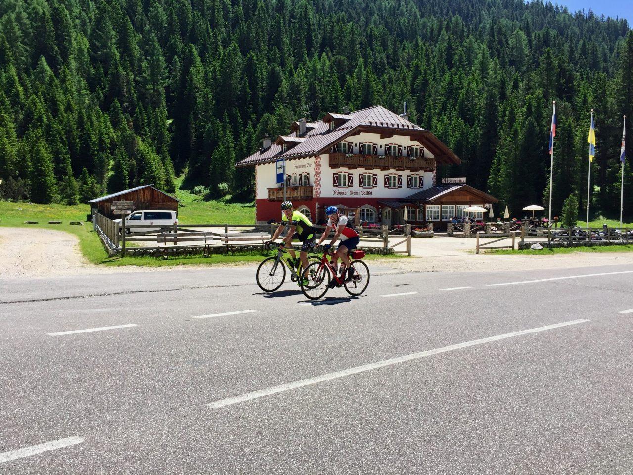 Hans-Jörg u. Andi, Passo Sella, Dolomites, Italy