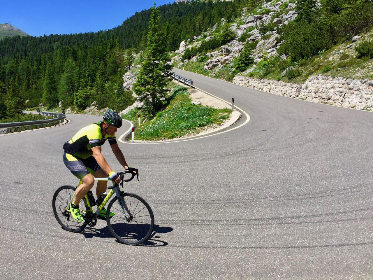 Andi, Auffahrt Passo Sella, Dolomites, Italy