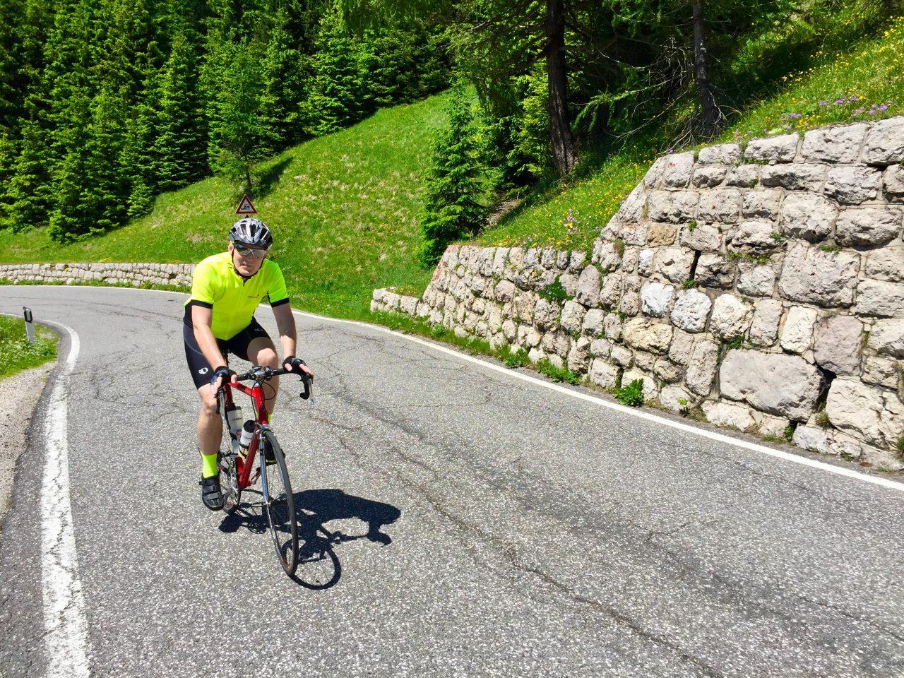 Auffahrt, Passo Gardena, Dolomites, Italy