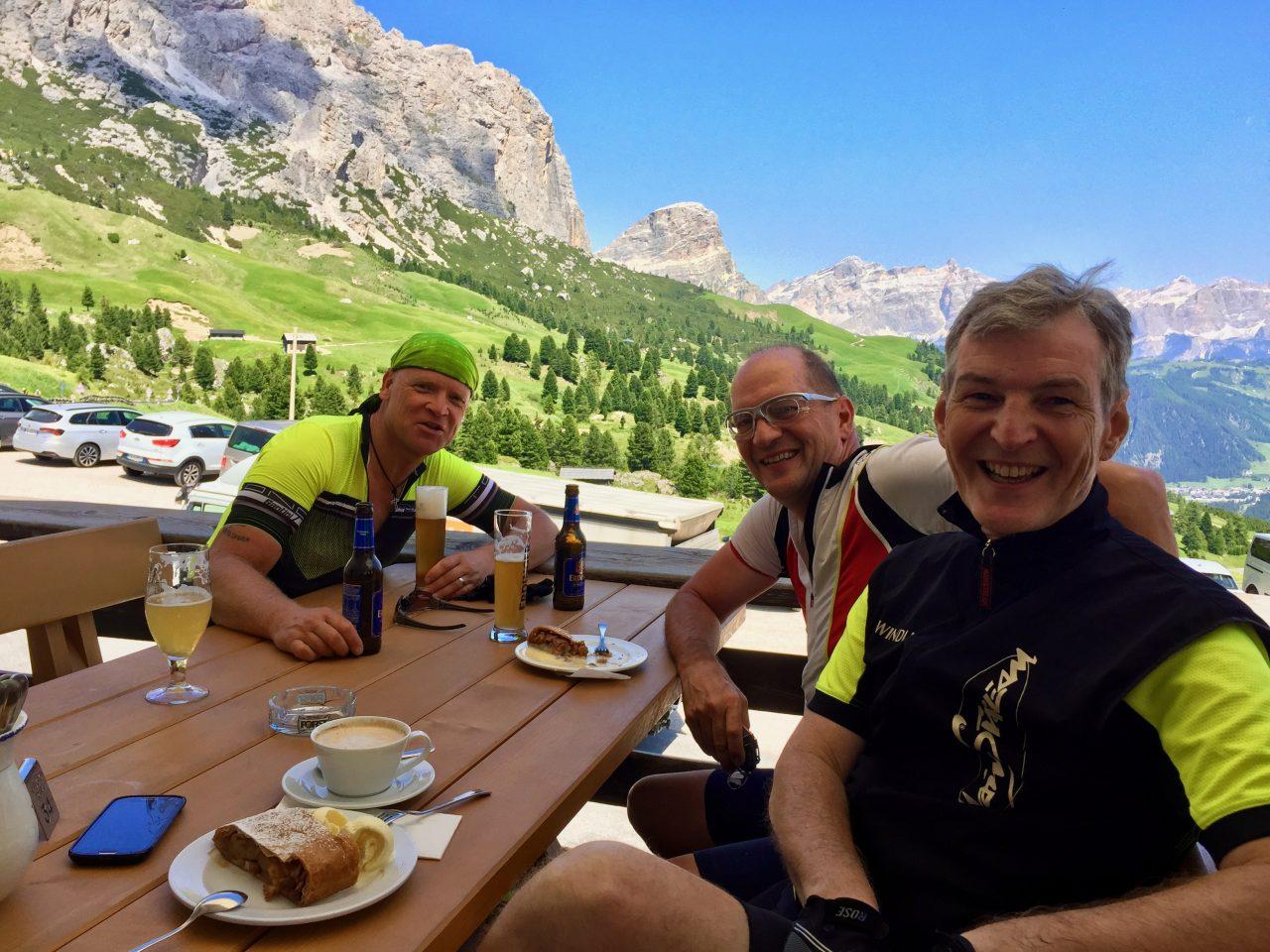 Jürgen, Hans-Jörg u. Andi, Passo Gardena, Dolomites, Italy