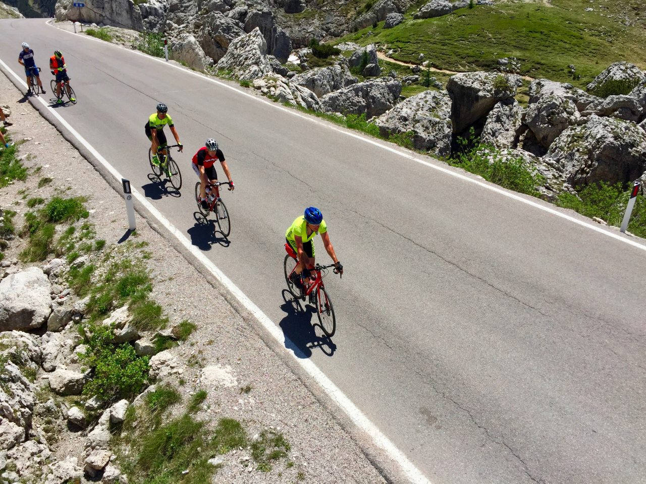 Hans-Jörg, Jürgen u. Andi, Passo Valparola, Dolomites, Italy
