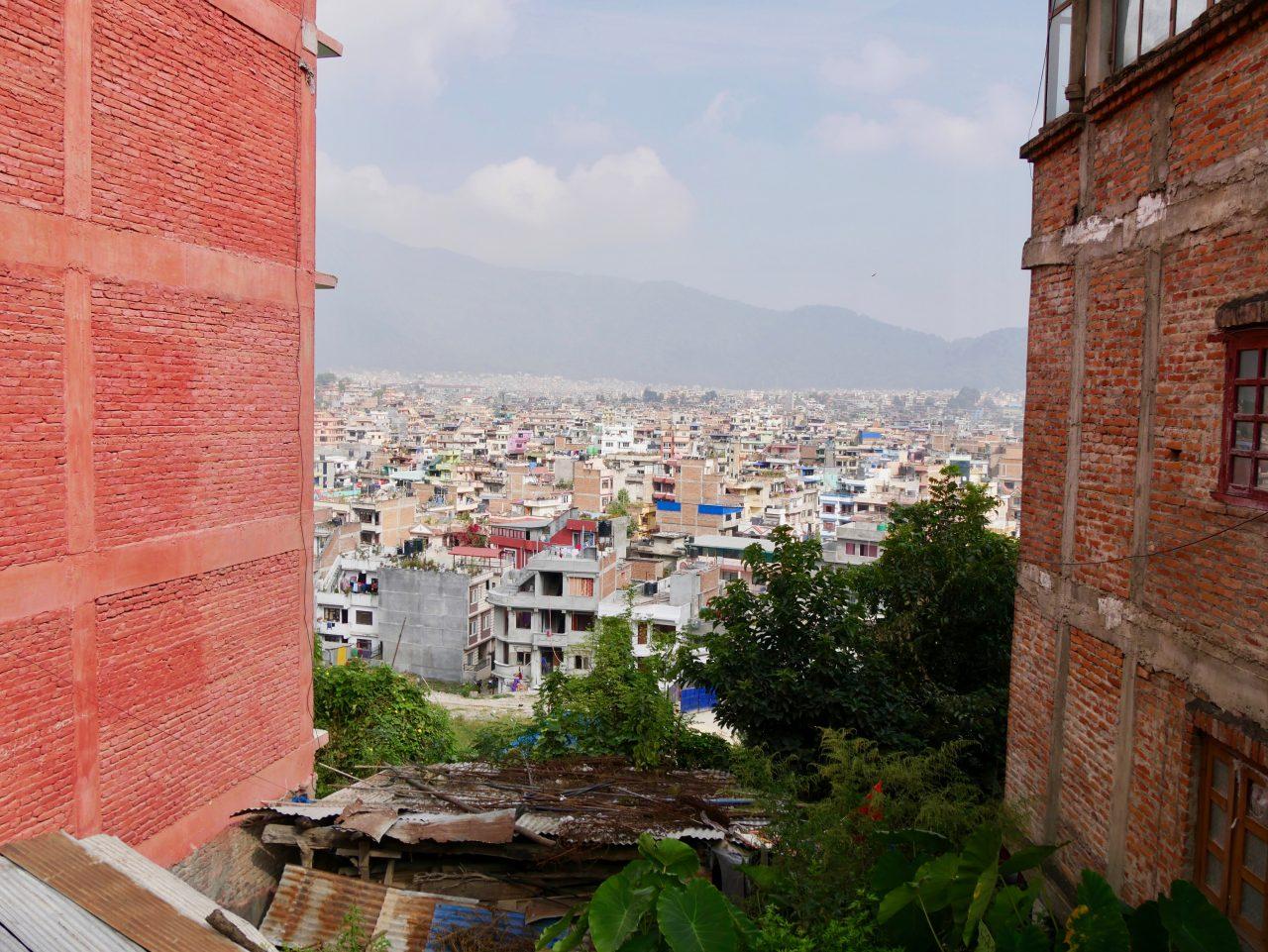 Auf dem Weg zum Affentempel, Kathmandu, Nepal