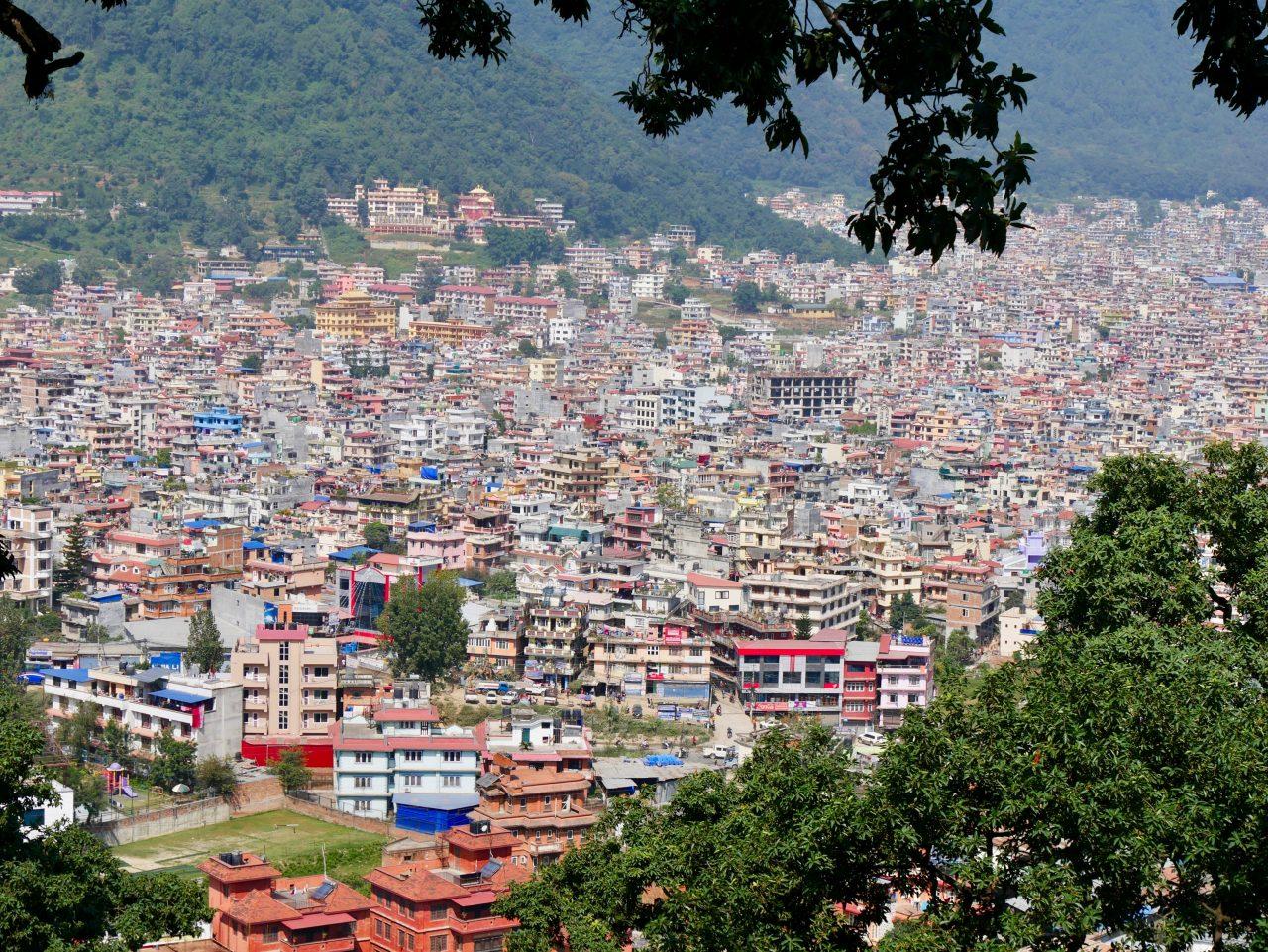 Aussicht von Swayambunath auf Kathmandu, Nepal
