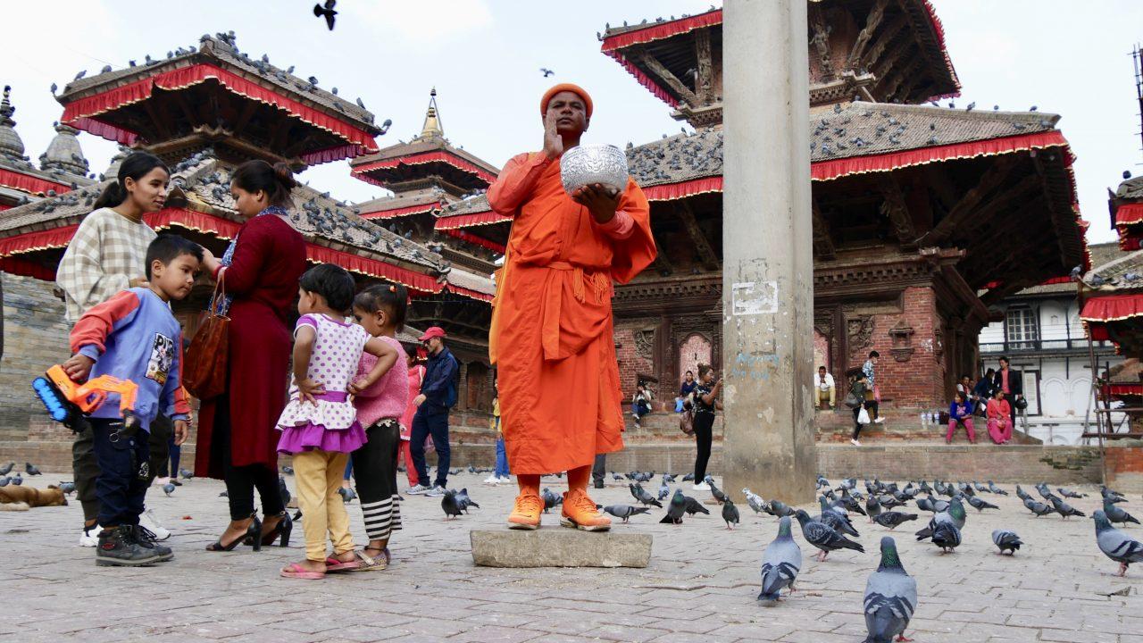 Bettelmönch, Durbar Square, Kathmandu, Nepal